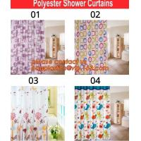 China bath mats sets shower curtains, POLYESTER BATHROOM CURTAIN, HOTEL SHOWER CURTAIN, PEVA bath curtain, polyester cotton fa on sale