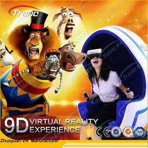 China Blue Egg Machine Virtual Reality Simulator With 360 Degree Rotating Platform wholesale