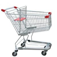 China Unfolding Grocery Store Shopping Carts Four Swivel Wheels Zinc Plated wholesale