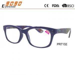 China Fashionable reading glasses,power range +1.0 to +4.00,made of plastic wholesale