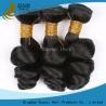 China Onda floja sin procesar de la Virgen de las extensiones indias negras naturales del pelo para las mujeres negras wholesale