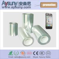 China Hot selling transparent mobile screen protector film roll phone PET screen guard rolls on sale