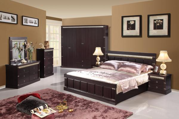 bedroom furniture black lacquer bedroom furniture with pu on headboard