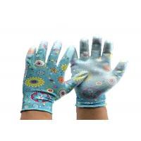 China Nitrile Coated Garden Work Gloves Polyester Liner Clear Safety Gloves wholesale