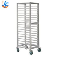 China Modern Baking Tray Trolley Stainless Steel Tray Rack Food Oven Trolley wholesale