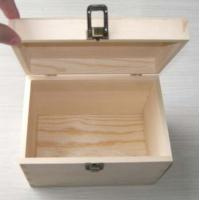 China Wooden gift box made in pine wood, hinged & clasp type, natural finish wholesale