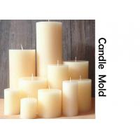 China Stereo cylindrical wedding candle mold European handmade round SPA candle molds wholesale