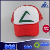China 5 - Panel Foam Woven Label Snapback Trucker Cap For Protecting From Sun on sale