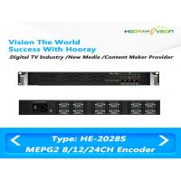 China 8 / 12 / 24 CVBS Inputs Digital TV Encoder Suppport  MPTS SPTS IP Output with Advertisement wholesale