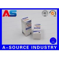 Anabolic Steroids 10ml Vial Boxes Embossed Carton Paper Matt White Color Printing