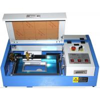 Buy cheap 3020 Mini Laser Engraving Machine , CO2 Laser Engraver With Water Pump from wholesalers