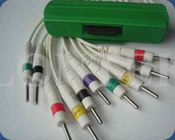 Quality IEC 1.2m ECG Patient Cable Iec Din3.0 10 Lead With CE And ISO for sale