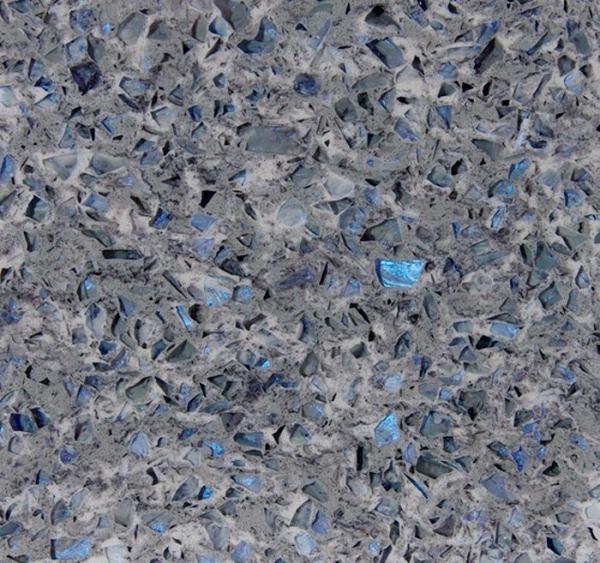 Quality Stone Cutting Artificial Quartz Jewelry Blue Abrasion Resistance Quartz Stone Slab for sale