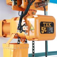 China 1.5kw 1 Ton 220V-690V Electric Chain Hoist With Trolley M5 Working Class wholesale