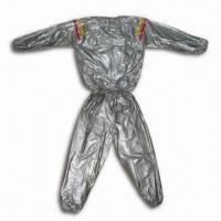 China Sauna Suits with Colorful Stripe, 0.1, 0.12 or 0.15mm Thickness, Made of Eco-friendly PVC on sale