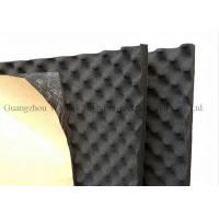 China Black Egg Crate Acoustic Foam Panels 12mm Thickness Rubber Acoustic Sound Panels wholesale