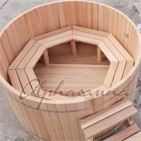 China ISO High grade luxury Portable wooden barrel SPA Hot Tub for Outdoor used wholesale