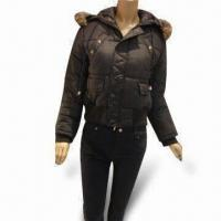 China Winter Jacket for Women, Made of 100% Polyester Shell Material on sale