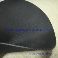 China Two Faces Cloth Finish Black Hypalon Fabric Sheet 1.0mm for Military on sale