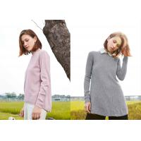 China Fashion Bespoke Crew Neck 100% Pure Cashmere Sweater For Women Autumn Wear on sale