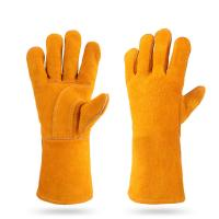 China Yellow Hand Safety Protection Leather Welding Gloves wholesale