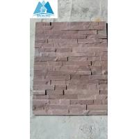 China Purple Sandstone Ledge Stone Panels Cultured Stone Veneer Stone Wall Cladding Stacked Ston on sale