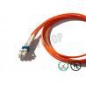 China naranja del cordón de remiendo de la fibra con varios modos de funcionamiento 1F de 3m m, puente de encargo de la fibra óptica wholesale