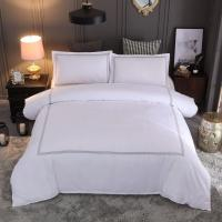 China Hotel embroidery Bedding Set Queen/King Size White Duvet Cover Sets Hotel Bed Linen Set Bedding Pillowcase wholesale