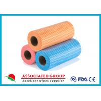 Yellow Red Blue Wavy Line Printed Non Woven Roll for Agriculture , Bag Use