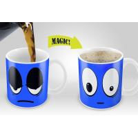 China Smile Magic Mug with Blue /Yellow /Red /White colors options Eco Friendly Travel Mugs wholesale