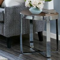 Buy cheap Mid Century Solid Wood End Tables18mmT MDF With Pine Wood Veneer Top from wholesalers