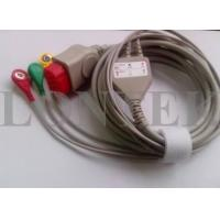 China Bionet ECG Patient Cable IEC 3LD Snap TPU For BM5 , Medical Accessories wholesale