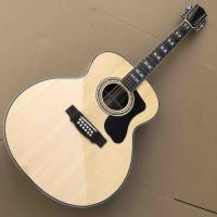 China Top quality solid top custom guild jumbo 12 strings gloss finishing acoustic electric guitar 12 string guitar wholesale