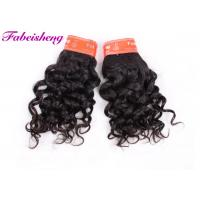 China Double Drawn Indian Virgin Human Hair Extensions / Italian Curly Hair Weave wholesale