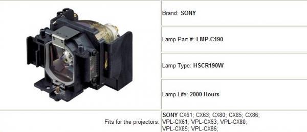 original lamps sony vpl cx61 vpl cx63 vpl cx80 vpl cx85 vpl cx86. Black Bedroom Furniture Sets. Home Design Ideas