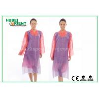 China White Waterproof and Dustproof Disposable Aprons PVC Material With Punched Neck Opening wholesale