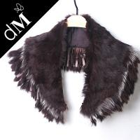 China Faux rabbit fur collar plastic beads clothing trimmings for women dress DMKH0002 on sale