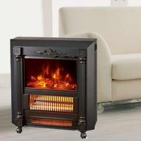 Mobile Fireplaces electric heater fire log electric stove NDY-20 flame effect room Heater Quartz tube infrared wheels