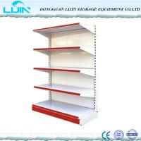 China Double / Single Sided Convenience Store Shelving, Metal Grocery Display Racks wholesale
