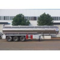 China Stainless Steel Vegetable Oil Delivery Truck , 42,000 Liters Oil Tank Trailer wholesale