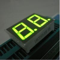China Green Two Digit Seven Segment Display Common Anode For Intrument Panel on sale