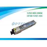 China Network Fiber SFP Optical Transceivers Telecom Communication 1.25G Bi-Di 20km SC on sale