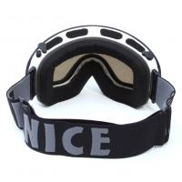 Quality Big Spherical Black Mirrored Ski Goggles , Anti Scratch Tinted Snowboard Goggles for sale