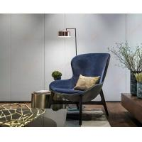 China Discover Hotel Comfortable Wooden Leisure Living room Blue Lounge Chair wholesale