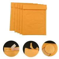 #000 4x8 Secure self-seal Golden Yellow Kraft Bubble Padded Mailers for shipping for sale