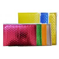 China Multi - Function Zipper Bubble Bags Custom A5 Pink Metallized Film Holographic Padded Mailing Envelopes wholesale