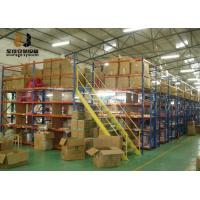China Boltless / Rivet Shelving Industrial Mezzanine Floors Surface Smooth 2m Height wholesale