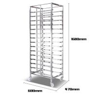 China Aluminum Alloy Bakery Bread Oven Baking Tray Cart Trolley Cake Rack Cart For Bakeware wholesale