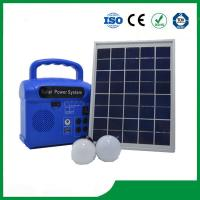 China 10w portable mini solar home lighting kits with mobile charger wholesale
