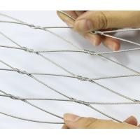 Buy cheap Rhombus Stainless Steel Cable Netting , Bird Aviary Steel Cable Mesh No Toxic from wholesalers